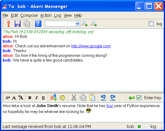 Click to View Full ScreenshotAkeni Secure Instant Messaging - Expert 2.1.117 screenshot