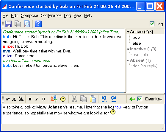 Click to view Akeni Instant Messaging -Pro Business IM 1.2 screenshot